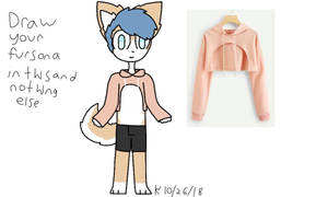 draw your fursona in this and nothing else meme by kindofawolf