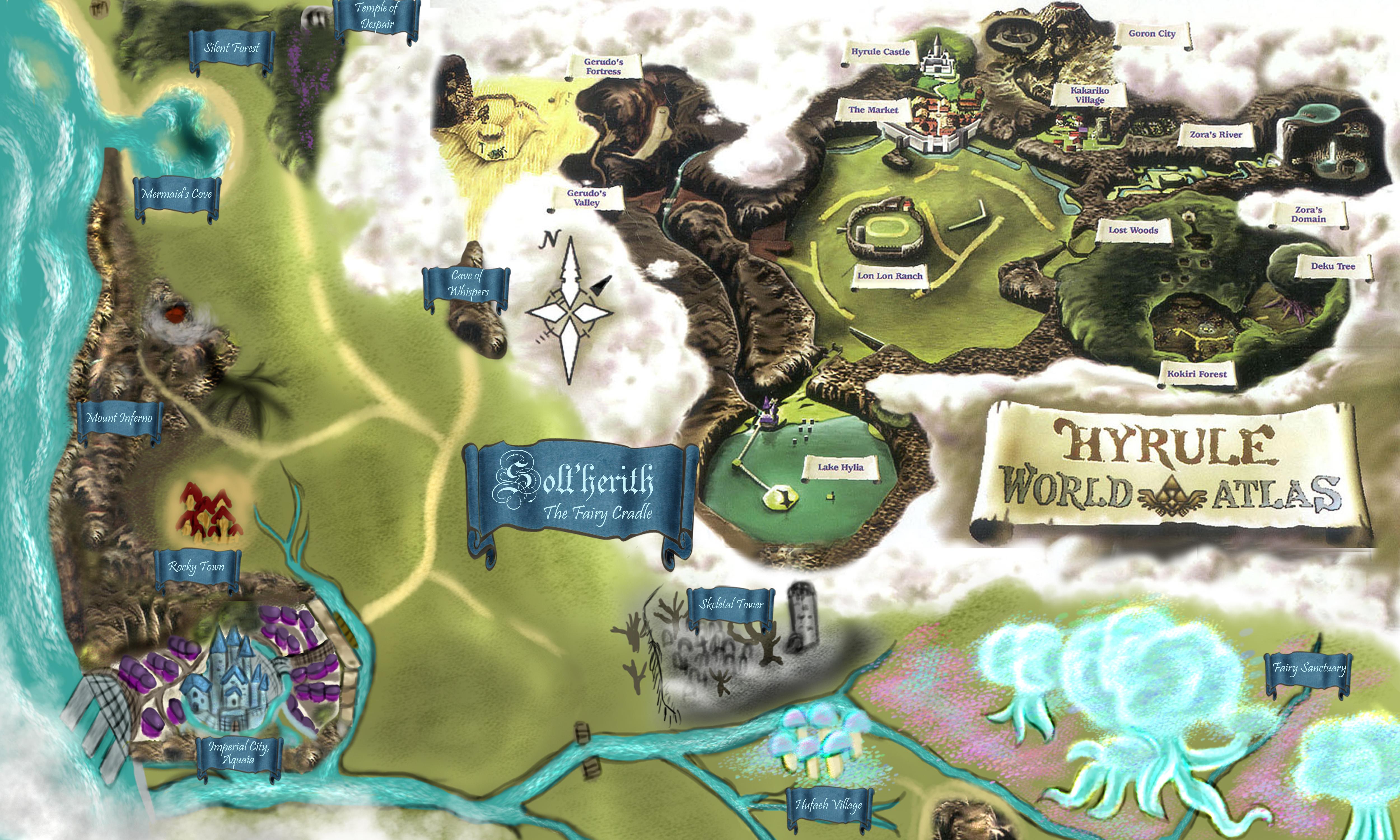World Map Of Zelda. World. Free Download Printable Image ...