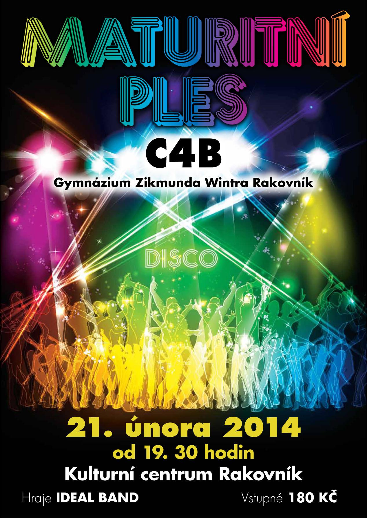 Plakát - maturitní ples C4B