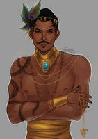 golden mage boy by cynellis