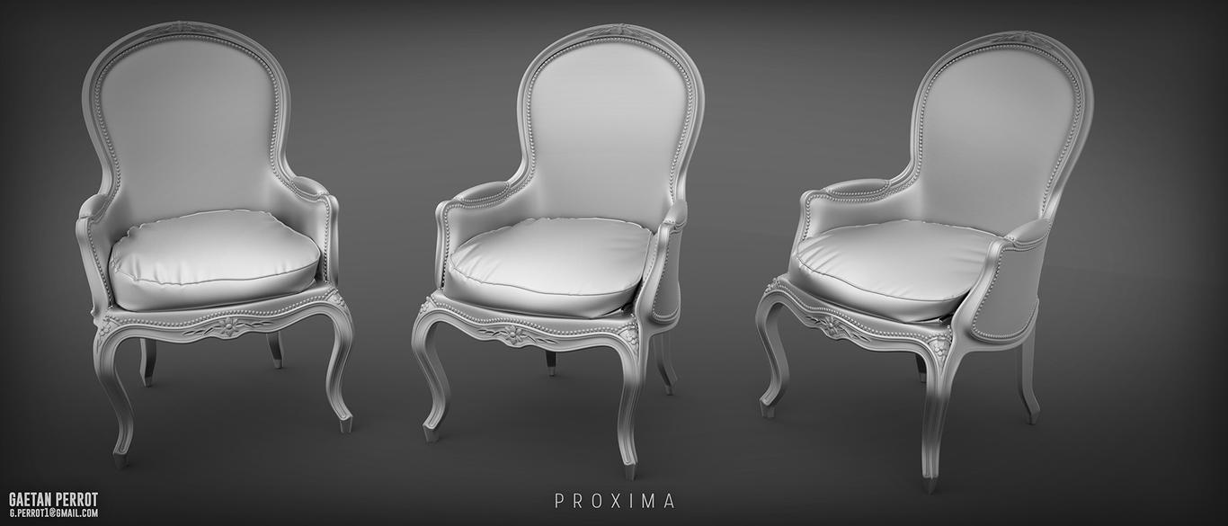 Proxima - Chair High Poly Render by Korann
