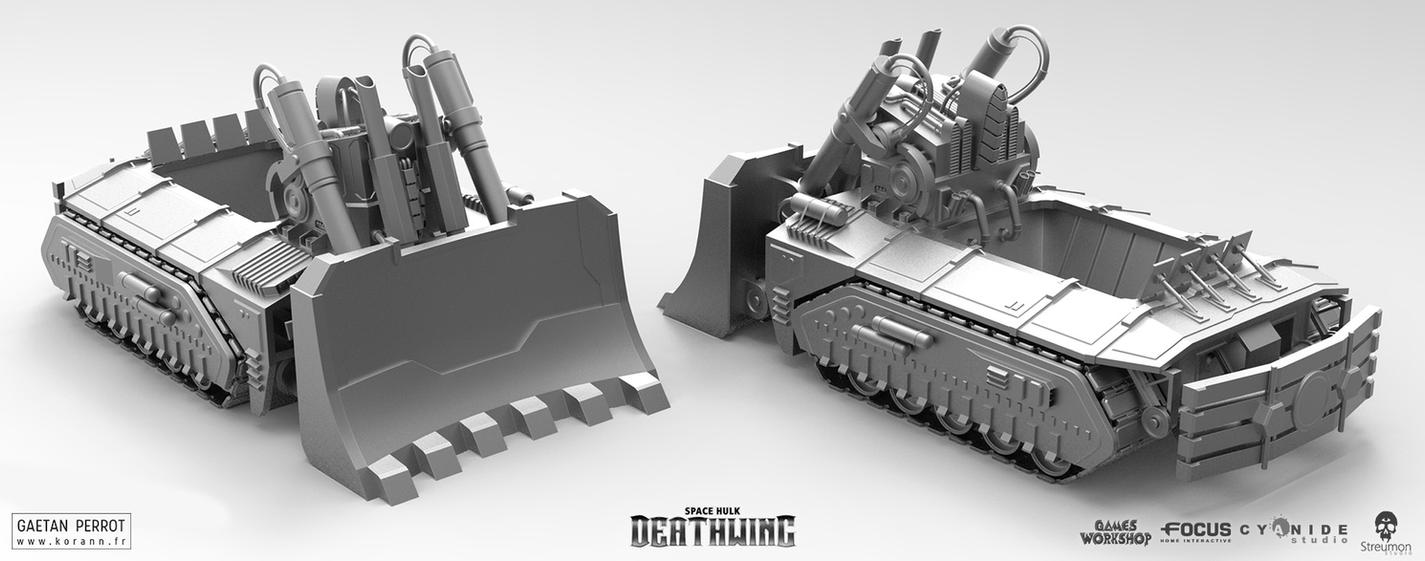 Space Hulk Deathwing - Caterpillar 03 by Korann