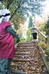 Leaf Village Staircase by HuskeyNinja