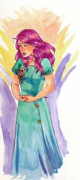 Io Watercolor Portrait
