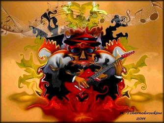 Psychedelic guitarist