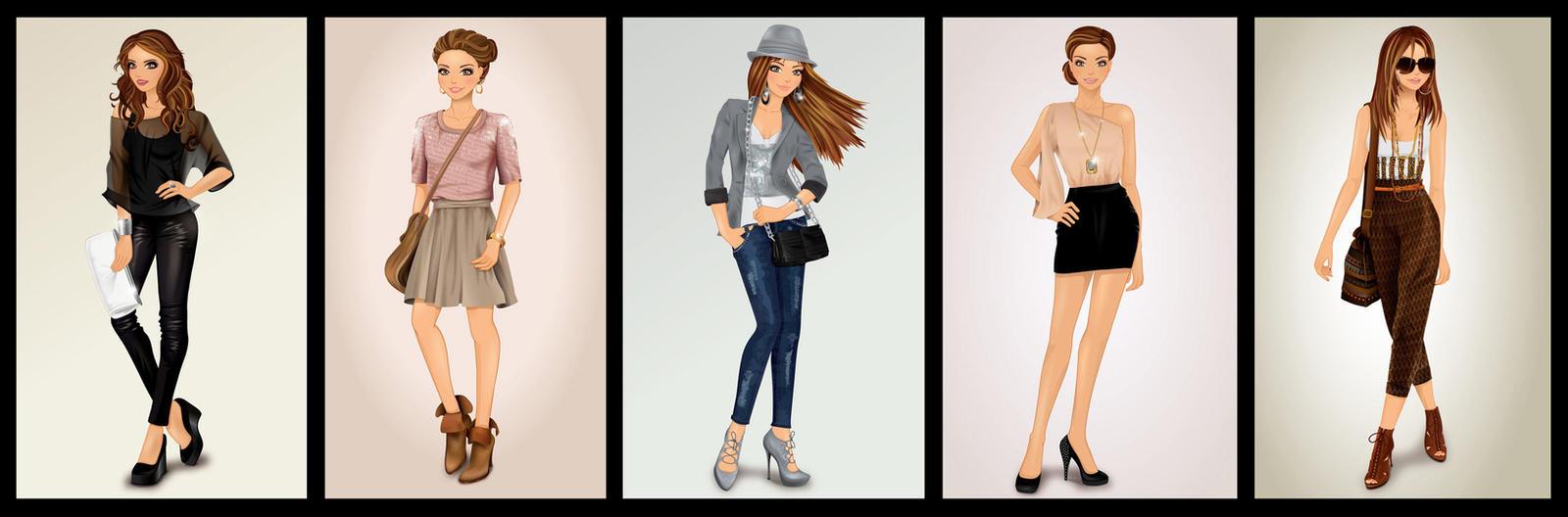 Valeska 2 -character design- by Magda84