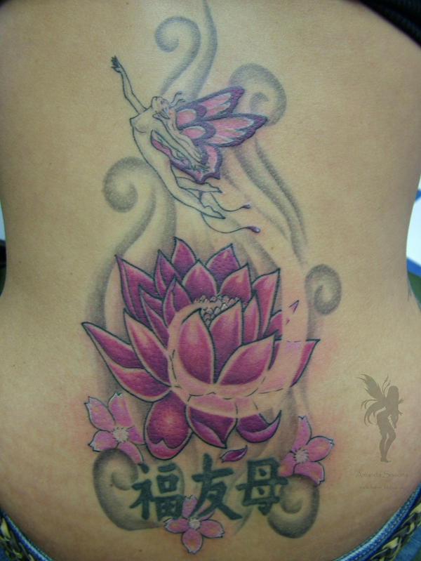Lotus Faerie Tattoo - flower tattoo