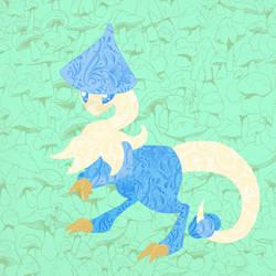 Blue Breloom - Lineless by FeralxInsaNitY