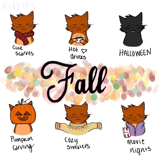 Fall kitties by Mintyfluff