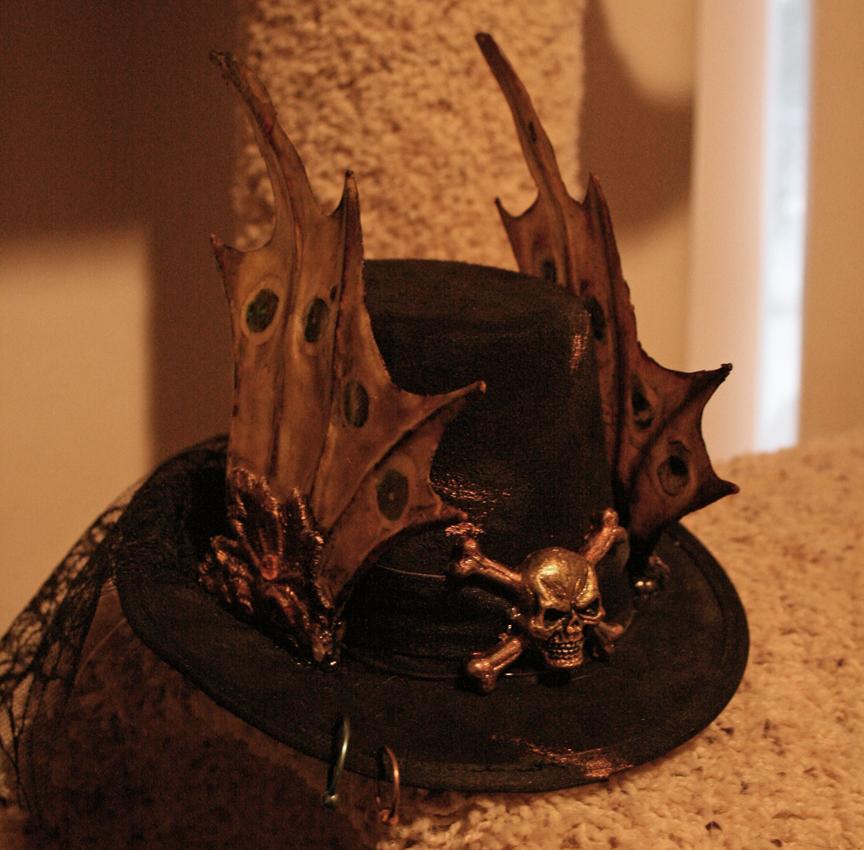steampunk hat by OpheliaMylawnwy