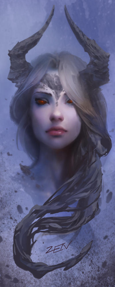 women fantasy eyes blue-#46
