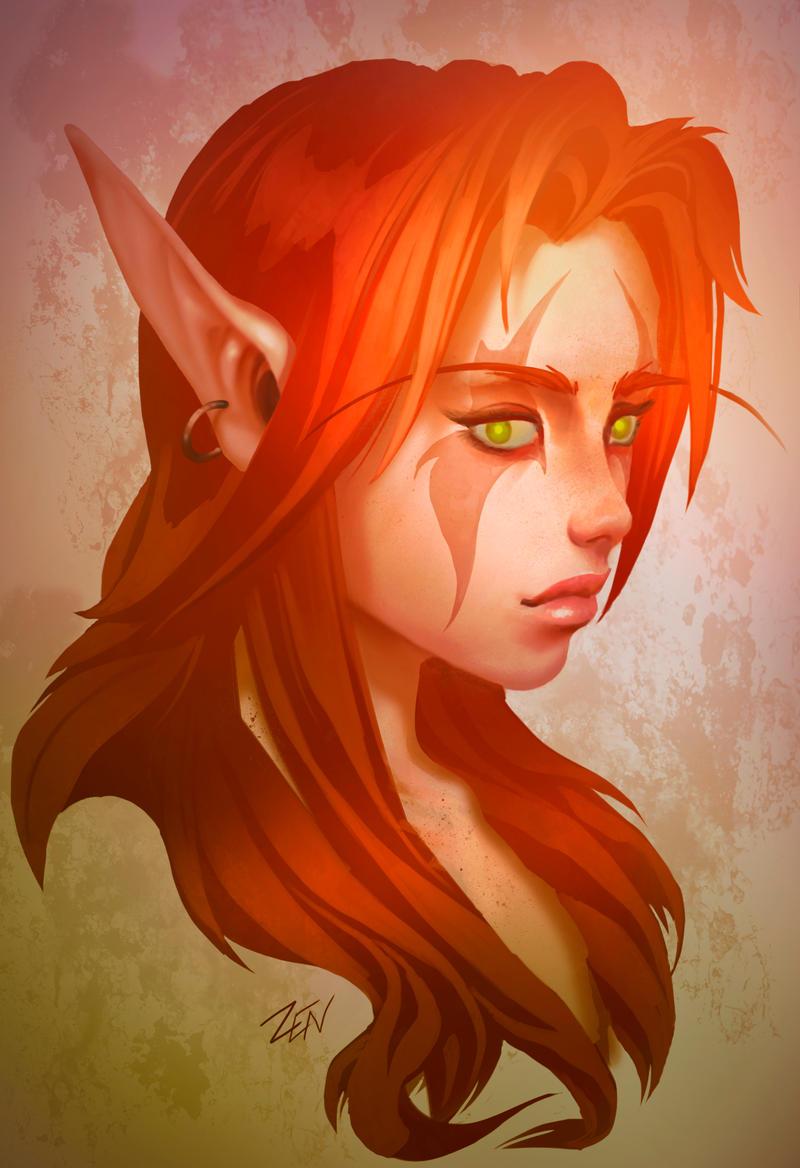 Blood elf by Zendanaar