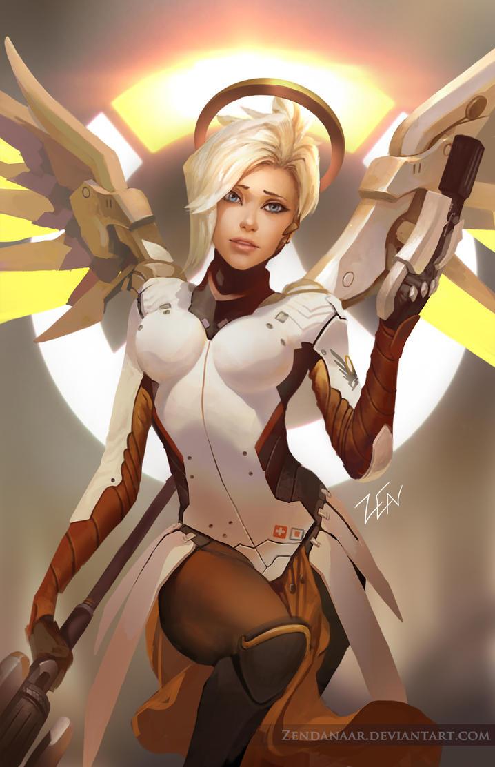 Overwatch - Mercy by Zendanaar