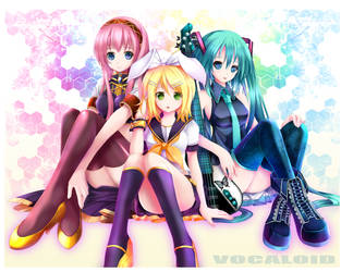 Vocaloid Miku,Rin,and Luka by LenKagamine24