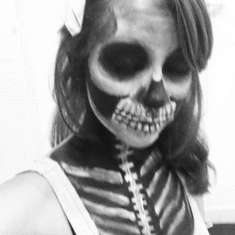 Mens Face Paint Skull