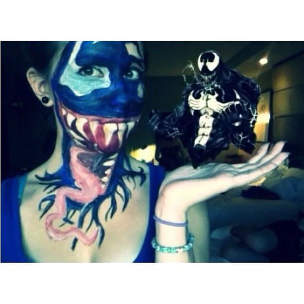 Venom Body Paint Tutorial