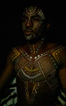 African Tribe Body Paint
