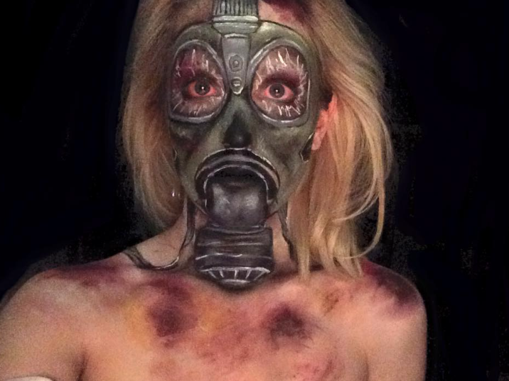 Broken Gas Mask by captainsarasparrow