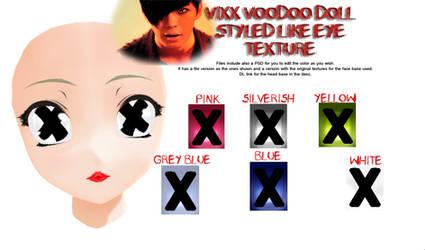 [DL] Voodoo doll like eye texture - VIXX inspired by MeruAgita