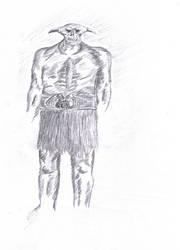 Dibujo de demonio incompleto