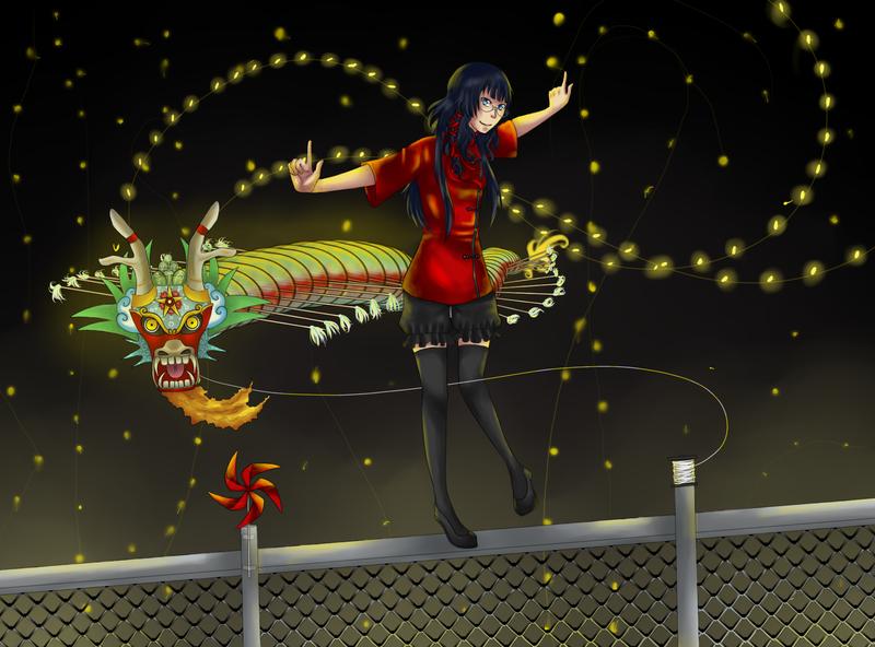Dragon Knite Flier Qing by GinJinKurum