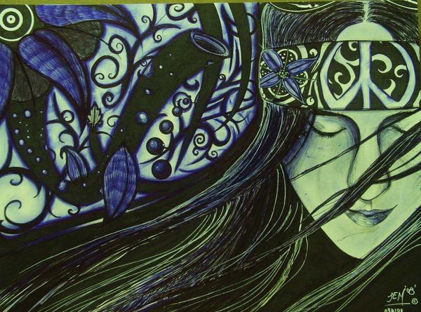 hippie girl by JEMDOT on DeviantArt
