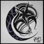 nuatical star tattoo design