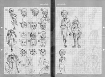 bocetos desarrollo AIReD