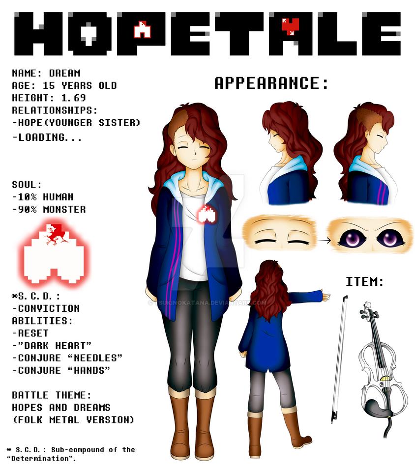HOPETALE - Dream info English Version by TsukiNoKatana