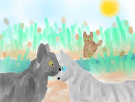 Graystripe and Silverstream - By The River