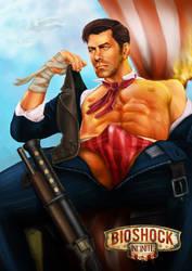 Bioshock Infinite - Booker Dewitt by freakoutduder