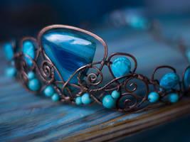 Song of the Sea blue agate  mermaid crown by MoonDomeUk