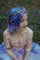 Moon crown and blue fairy by MoonDomeUk