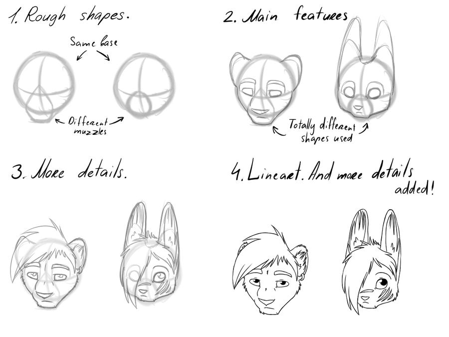 Tutorial: Drawing heads by Jasiri-lioness