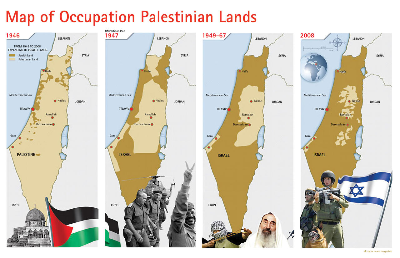Map of Occupation Palestinian by ademmm