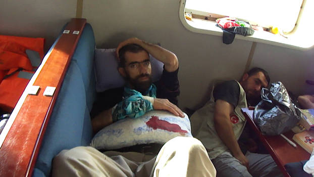 Flotilla wounded aid volunteer