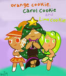 Orange Cookie, Carol Cookie and Lime cookie