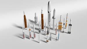 Rocket garden by brickmack