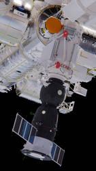 Soyuz At Rassvet by brickmack