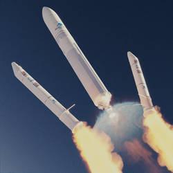 Ariane 5 Booster Sep by brickmack