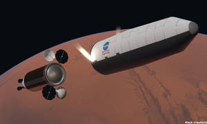 Cargo arriving at Mars
