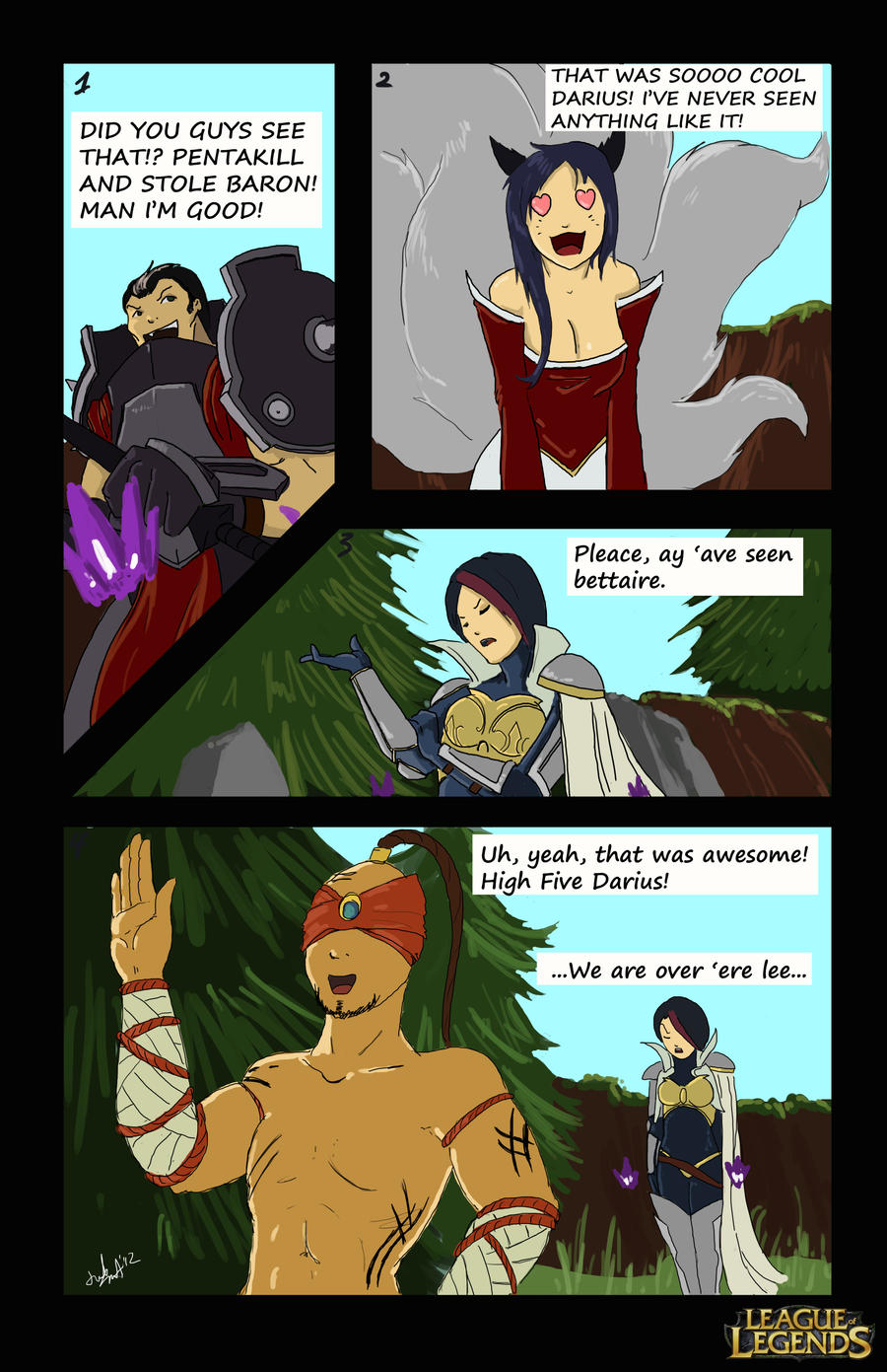 LoL Comic Contest: 'Not seeing Eye to Eye' by FarahBoom