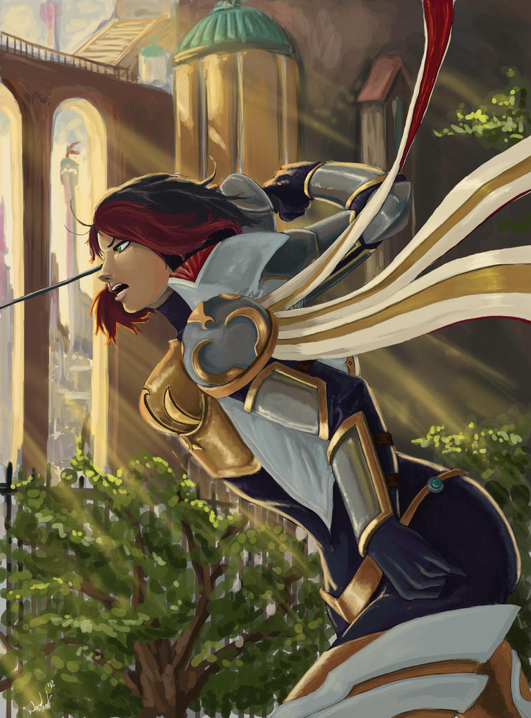 League of Legends : Fiora Comic Cover by FarahBoom on ...