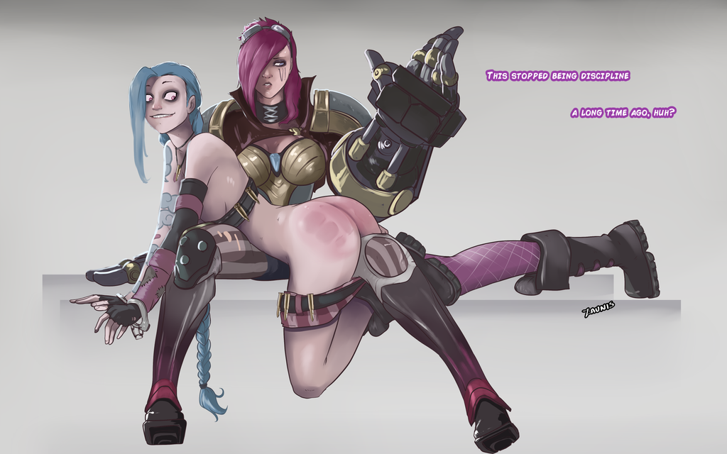 Vi disciplining Jinx... kind of. by FarahBoom