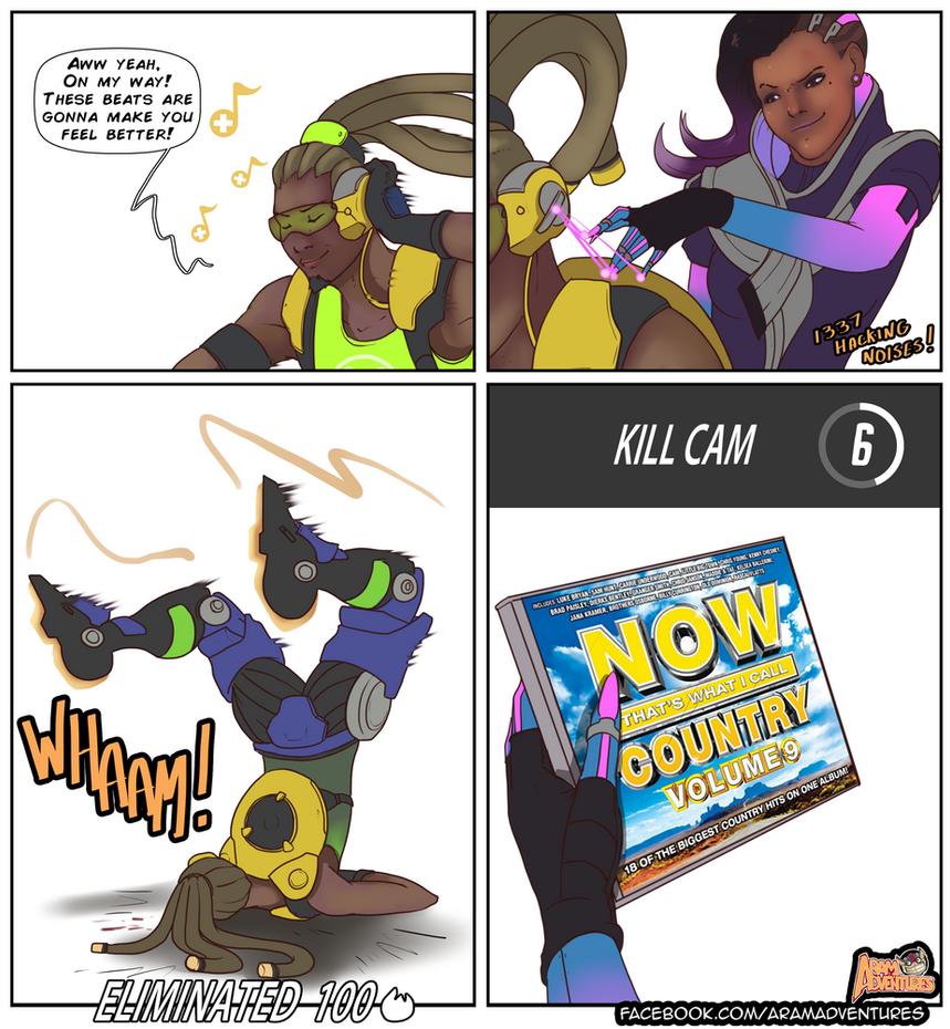 Sombra counters Lucio HARD! by FarahBoom