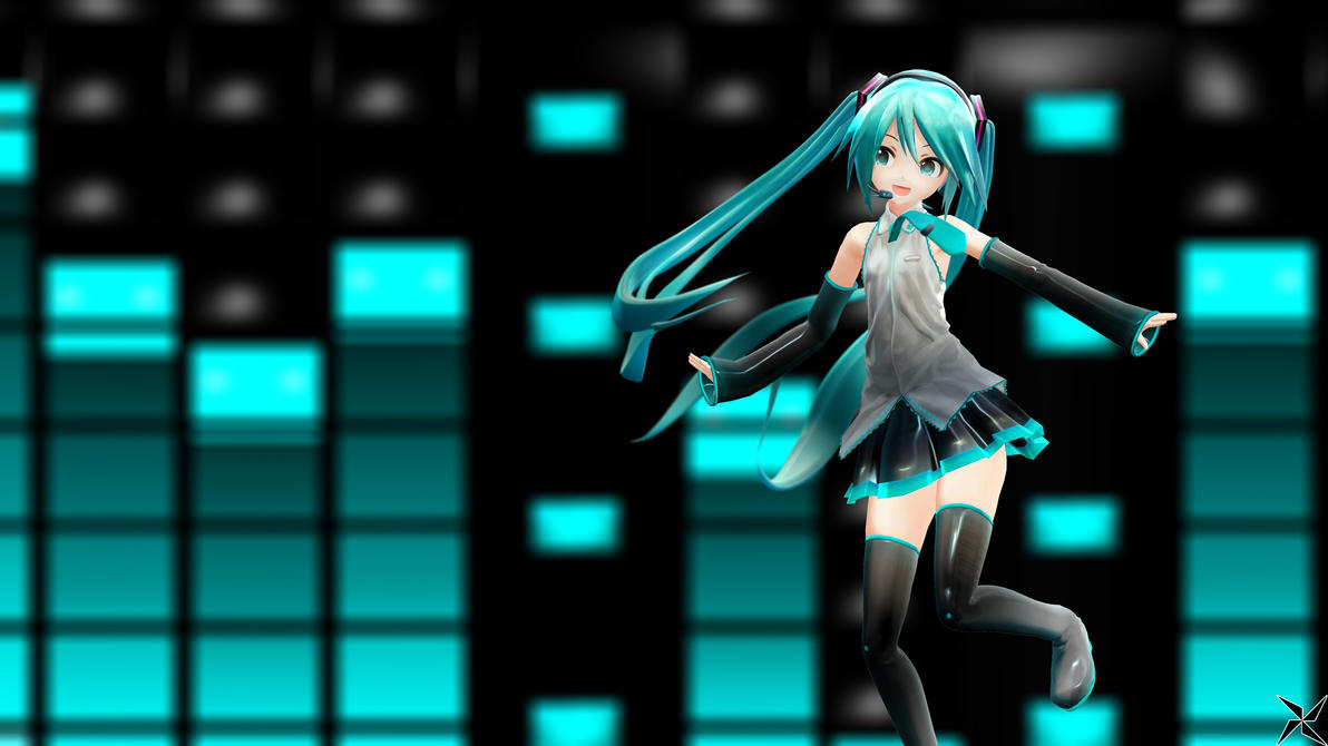 MMD: Hatsune Miku - YouTube Banner (4K Wallpaper) by Suspeso on ...