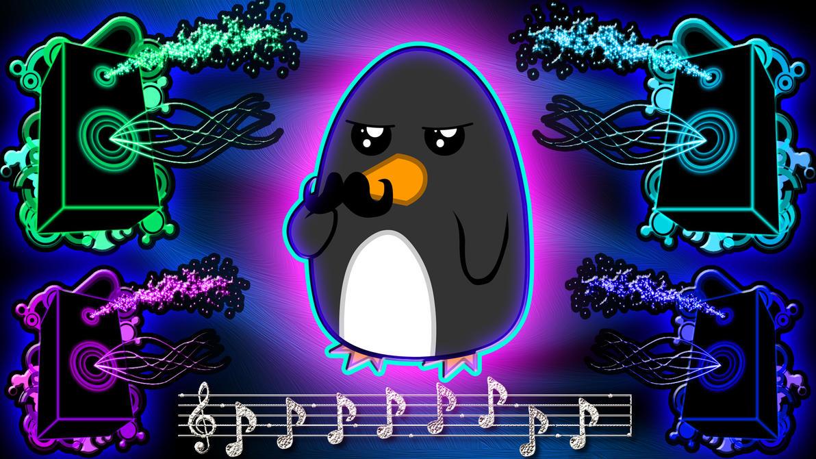 Neon Penguin Wallpaper by PlanetaryPenguin on DeviantArt
