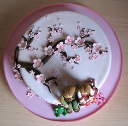 SyaoranxSakura cake 02 by CuteSherry