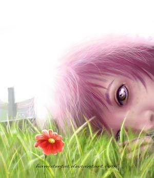 Semi Realism - Red Daisy