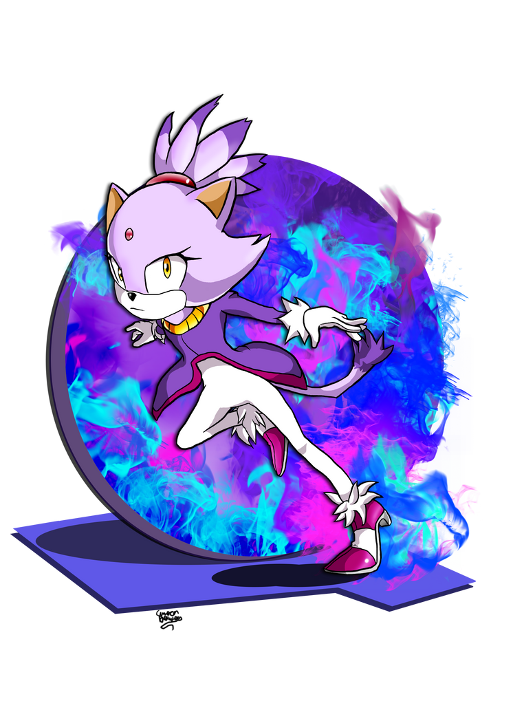 Blaze The Cat by mrdaywhea